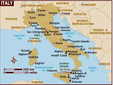 Famous Historic Buildings Archaeological Site In Italy Pompeii - Map of italy cities
