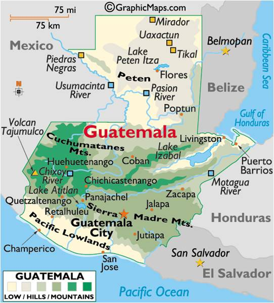 Famous Historic Buildings and Archaeological Sites in Guatemala – Tourist Attractions Map In Guatemala