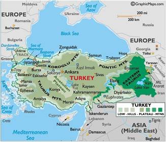 Side Turkey Map
